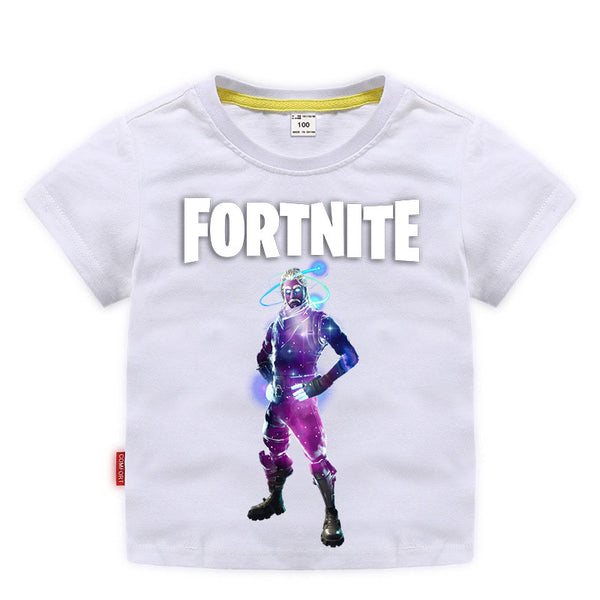 Kids Cotton T-shirts Fortnite Galaxy Print Tees