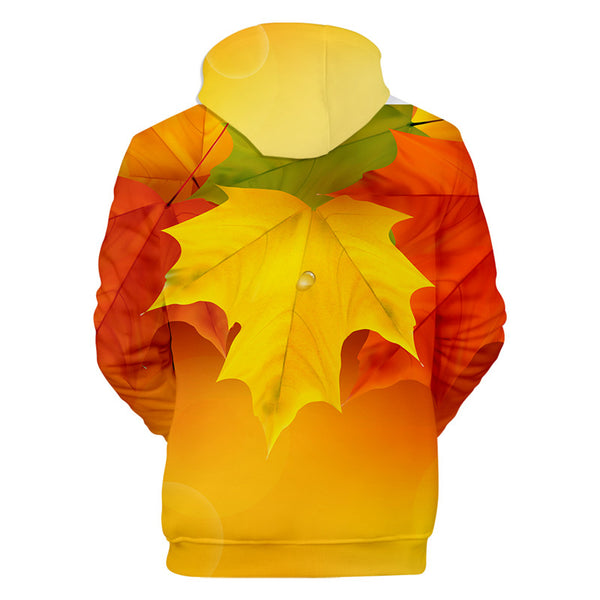 Maple Leaf 3D Drawstring Hoodie