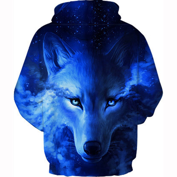 Wolf Long sleeves 3D Printed hoodie Sweatshirt