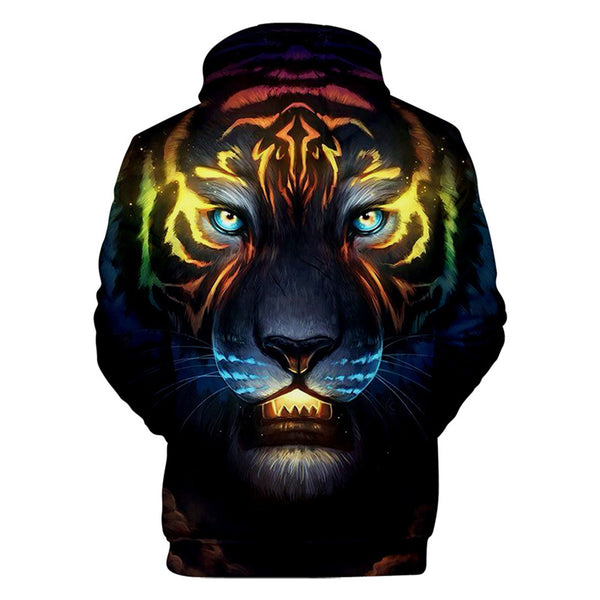 men 'sTiger  Patterns Casual 3D Printed Hoodies Sweatshirts