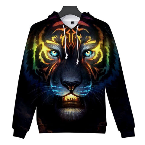 Tiger  Patterns Casual 3D Printed Hoodies Sweatshirts