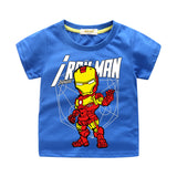 Kids Carton T-Shirt  Iron Man Print Cotton Tee