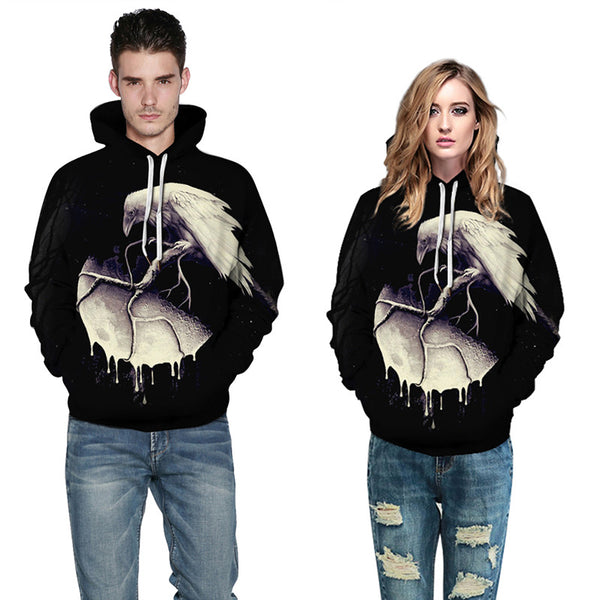 Mens Bald Eagle Hoodies 3D Sweatshirt adlult
