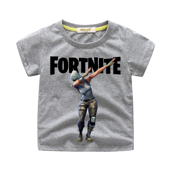 Kids Fortnite Dance Funny T-shirt Cotton Tee