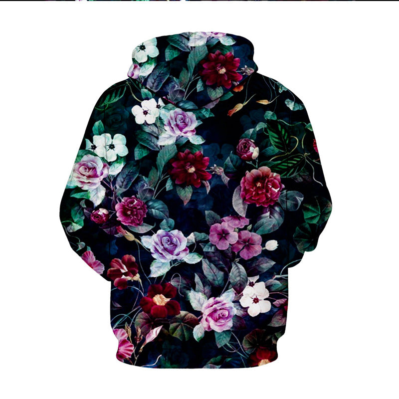 02a4d82d04a4 Preety Long Sleeve Floral Pattern 3D Printed Hoodie