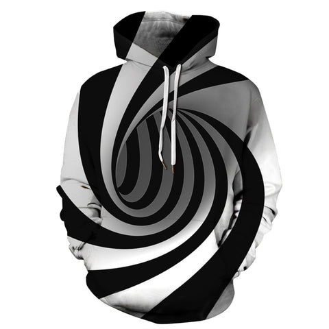 Tunnel Abstract Images Print Hooded Sweatshirt