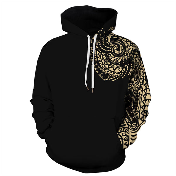 Women Black Hoodies 3D Printed Sweatshirt