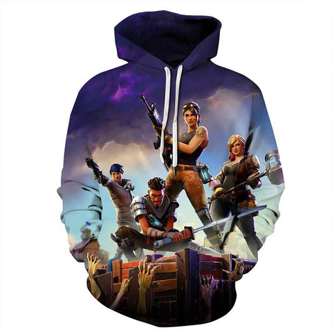 Youth Fortnite Soldier Hoodie 3D Sweatshirt