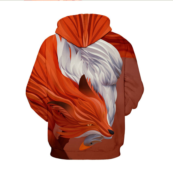 Fox Model Fastness 3D Painted Hoodie