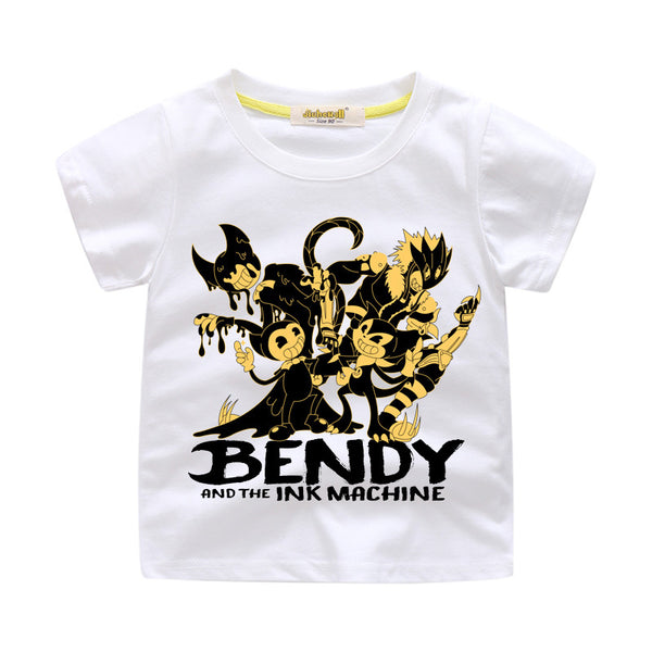 Funny Bendy T-shirt 3D Printed Cotton Short Tee