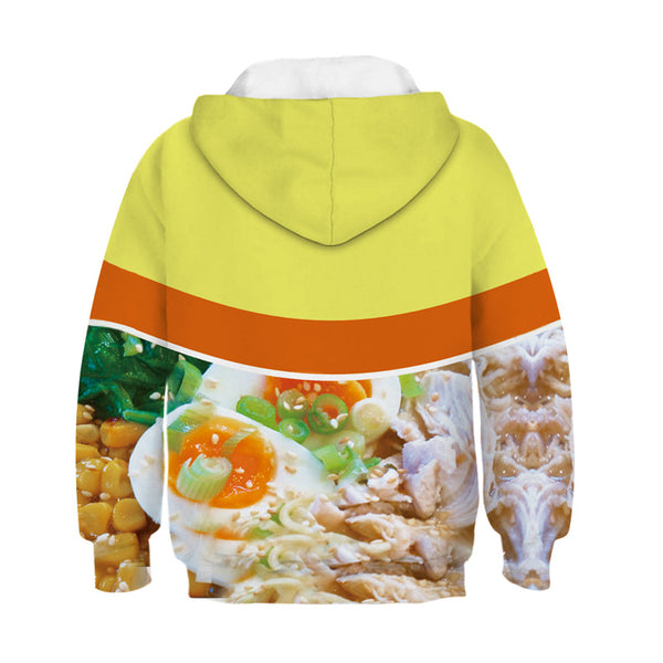 Kids Hoodies 3D Noodle Soup Printed Sweatshirt