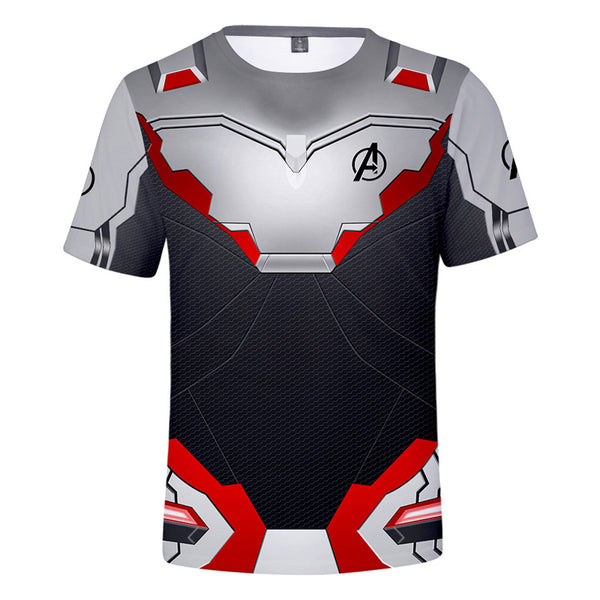 Avenger 4 T-Shirt Advanced White Tech Suit Tops Tee T-Shirt