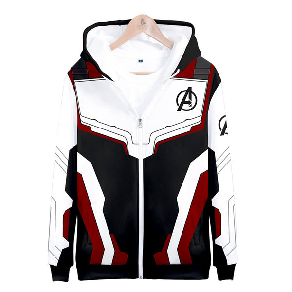 Avengers Endgame Suits Zip Up Pullover Hoodie Costumes