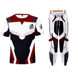 Avengers 4 Endgame T-shirt Suit Cosplay Costumes Short Set