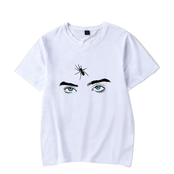 Women's Billie Eilish Fans Gift T-Shirts Eyes Graphic Tee Tops