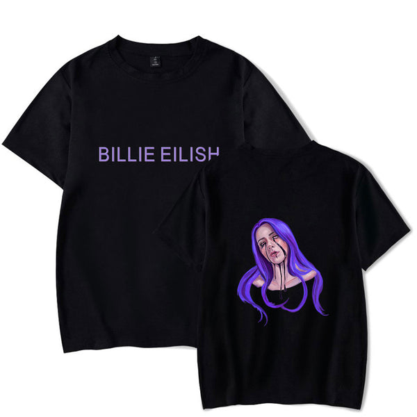 Billie Eilish Short Sleeve Tee Ocean Eyes Remix T Shirt