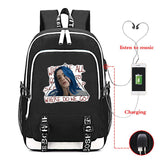 Billie eilish Backpack School Bag Bookbag with USB Charging Port