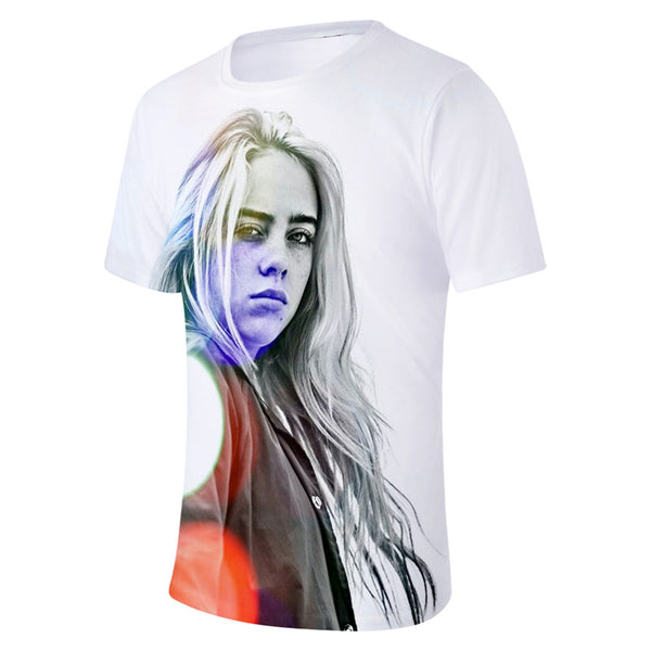 Billie Eilish Short Sleeve Tops T-shirt