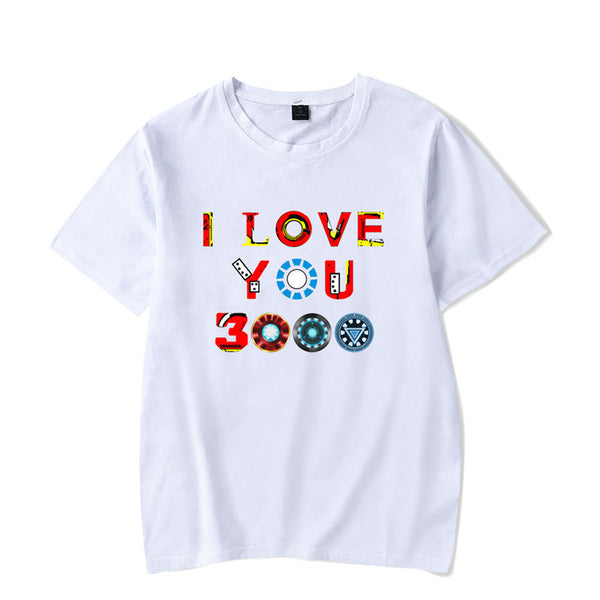 Endgame 4 Cotton T shirt  I LOVE YOU 3000 Printing T Shirt