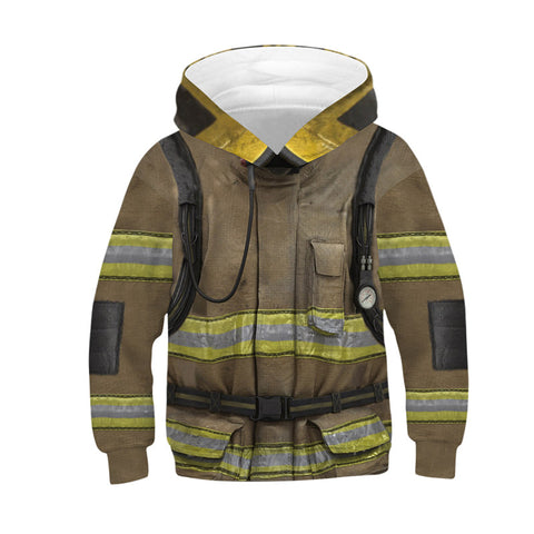Firefighter 3D All Over Printed Hoodies For Boys and Girls