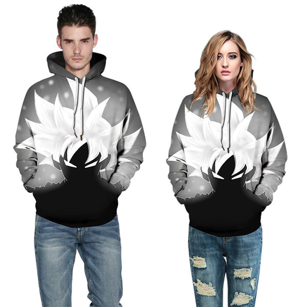 Fashion Men Sweatshirt Goku Paint Pullover Hoodies