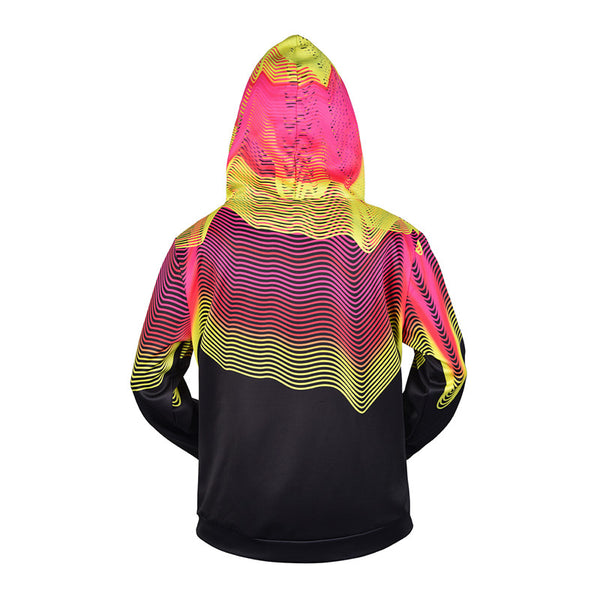 Unisex Cool 3D Printed Long Sleeve Zip Up Hoodie