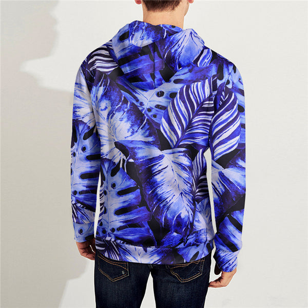 New Popular 3D Printed Sport Loose Hooded Sweatshirts with Zipper