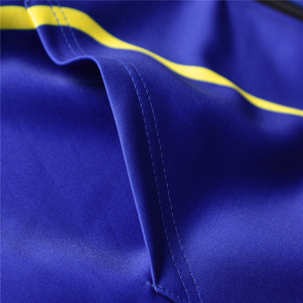 Fashion 3D Printed Blue Long Sleeve Oversize Zip Up Hoodie