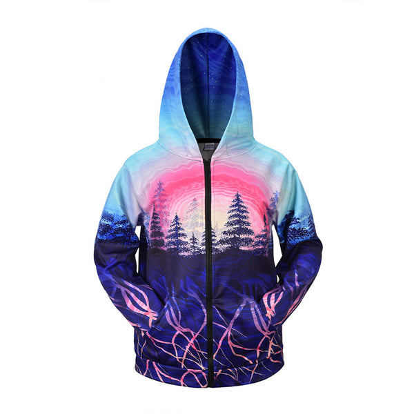 Unisex Fashion Zip Up 3D Hoodie