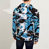New Popular 3D Printed Zip Up Sport Loose Hoodie