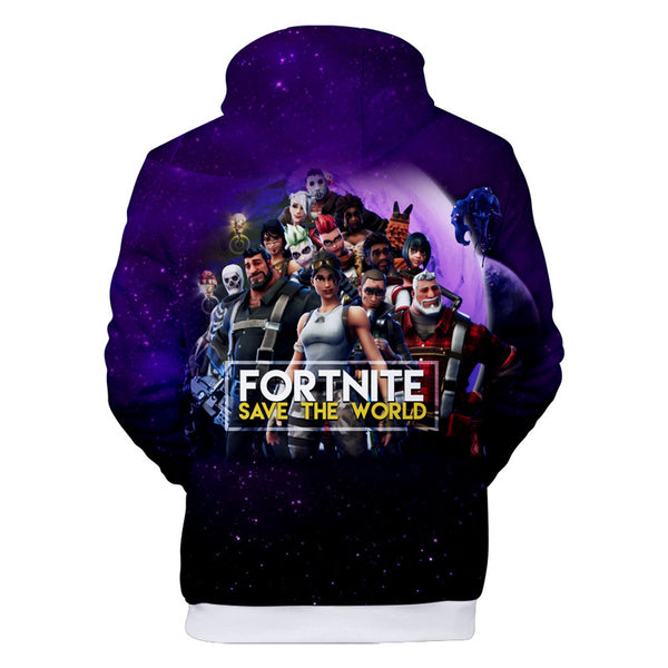 Youth Fortnite Hoodies Save The World 3D Hoodie