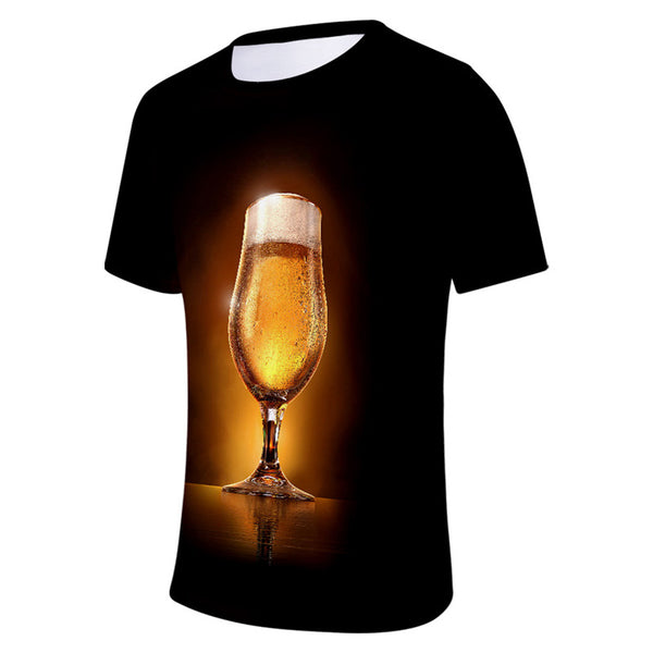 Beer Funny T-Shirts Casual Cool Summer Short Sleeve Tees
