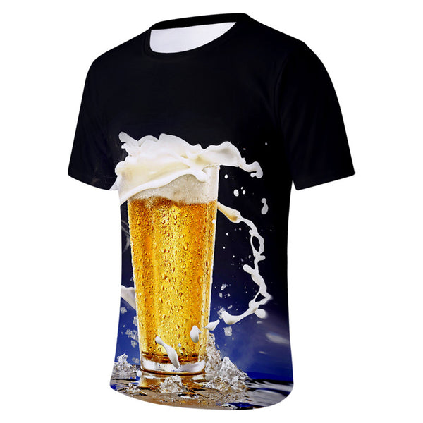 Summer T shirt Ice Beer Hop Short Sleeve Tees