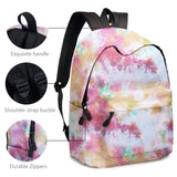 Colorful Tie Dye Backpack With Pencil Bag Laptop Daypack Bookbags