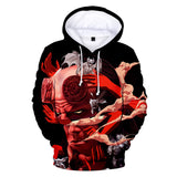 Leisure Hood Sweatshirt Long Sleeve Hellboy Print Hoodies