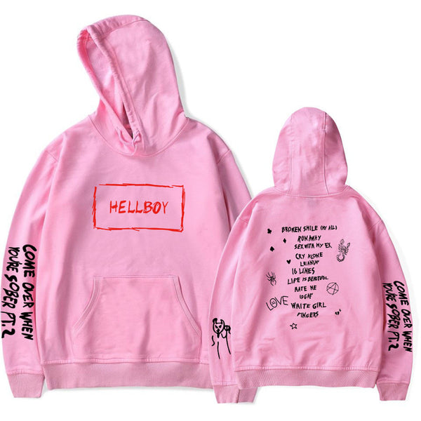 Lil Peep Hellboy Hoodie Youth Hellboy Sweatershirt