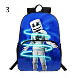 DJ Marshmello Backpack School Supplies Satchel Casual Book Bag School Bag for Kids Boy Girls Backpack Junior Bag
