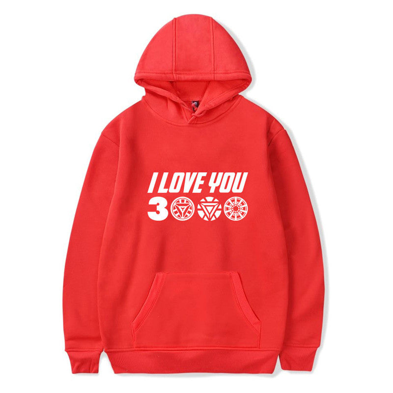 Youth 3D Print I Love You CAT MOM Hooded Sweatshirt Kids