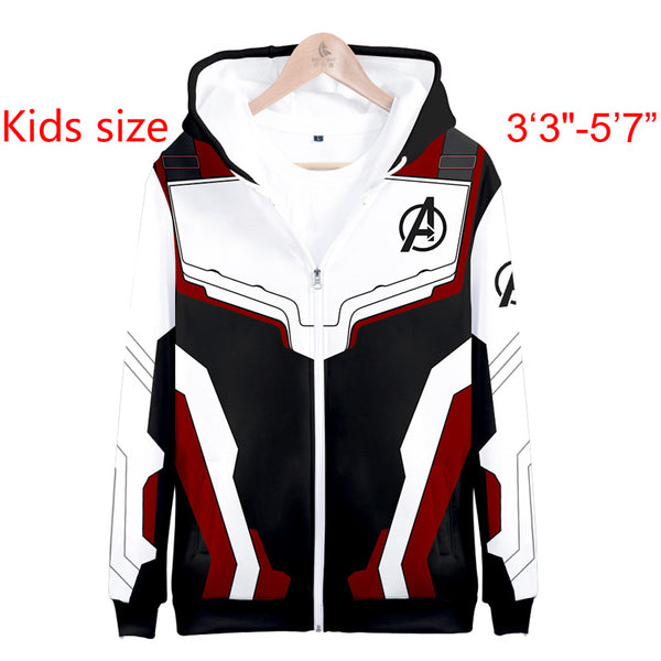 Kids Quantum Avenger 4 Endgame Advanced White Tech Zip up Hoodie