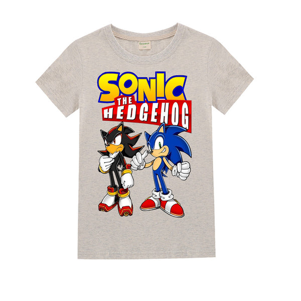 Sonic The Hedgehog  Pattern T Shirt For Kids  4-14Y