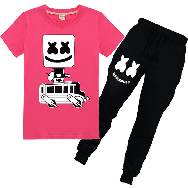 Marshmello Cotton T shirt and Pants For Boys and Girls