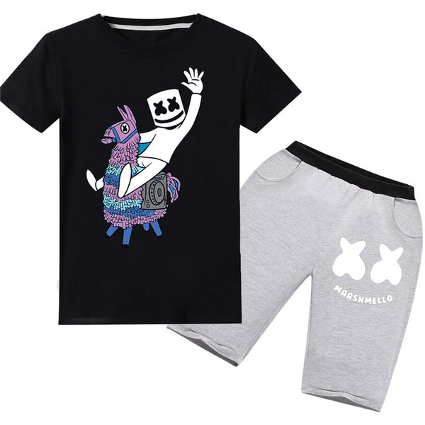 Youth DJ Marshmello Short Sets Pajamas T-shirt Suit