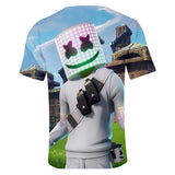 Marshmello T Shirt Tops Short Sleeves Summer Marshmello Print Shirts