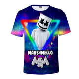 Youth Marshmello V Neck T Shirts DJ Printing Mens Shirts