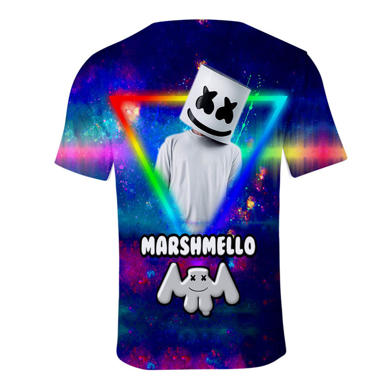 Cheap Cool Marshmello Face T-Shirt Unisex Short Sleeves