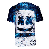 Cool Marshmello Face T-Shirt Unisex Short Sleeves
