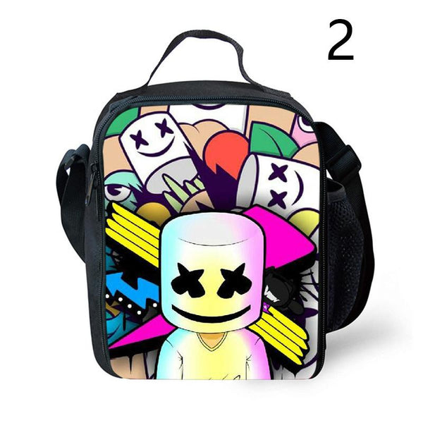 Marshmello Lunch Box Waterproof Insulated DJ Lunch Bag