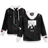 Trending Jujutsu Kaisen Merch Denim Jacket Cotton Jean Coat Ideal Present