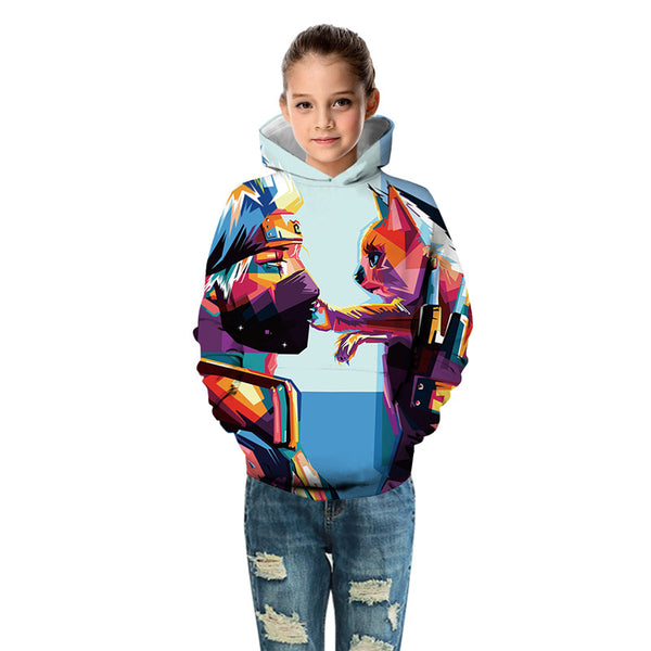 Cute Kids Hoodie Naruto With Cat Sweatshirt