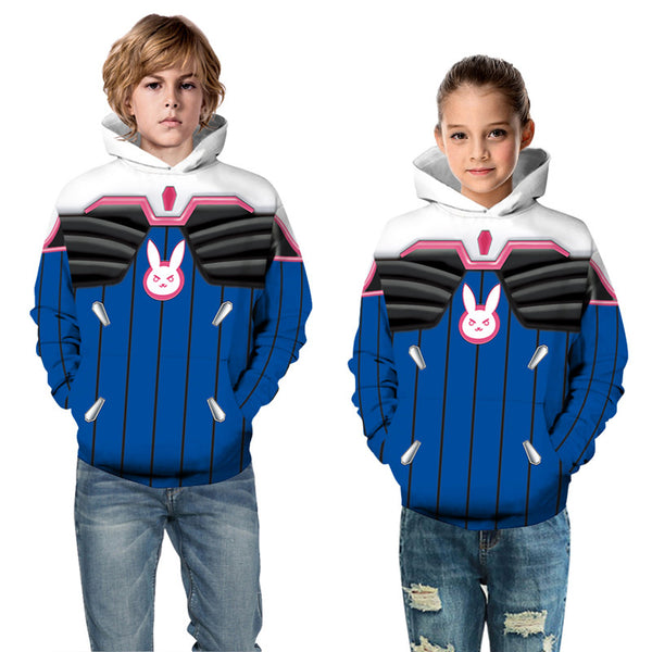 Cute Hoodies  Kids Overwatch Pullover Sweatshirt